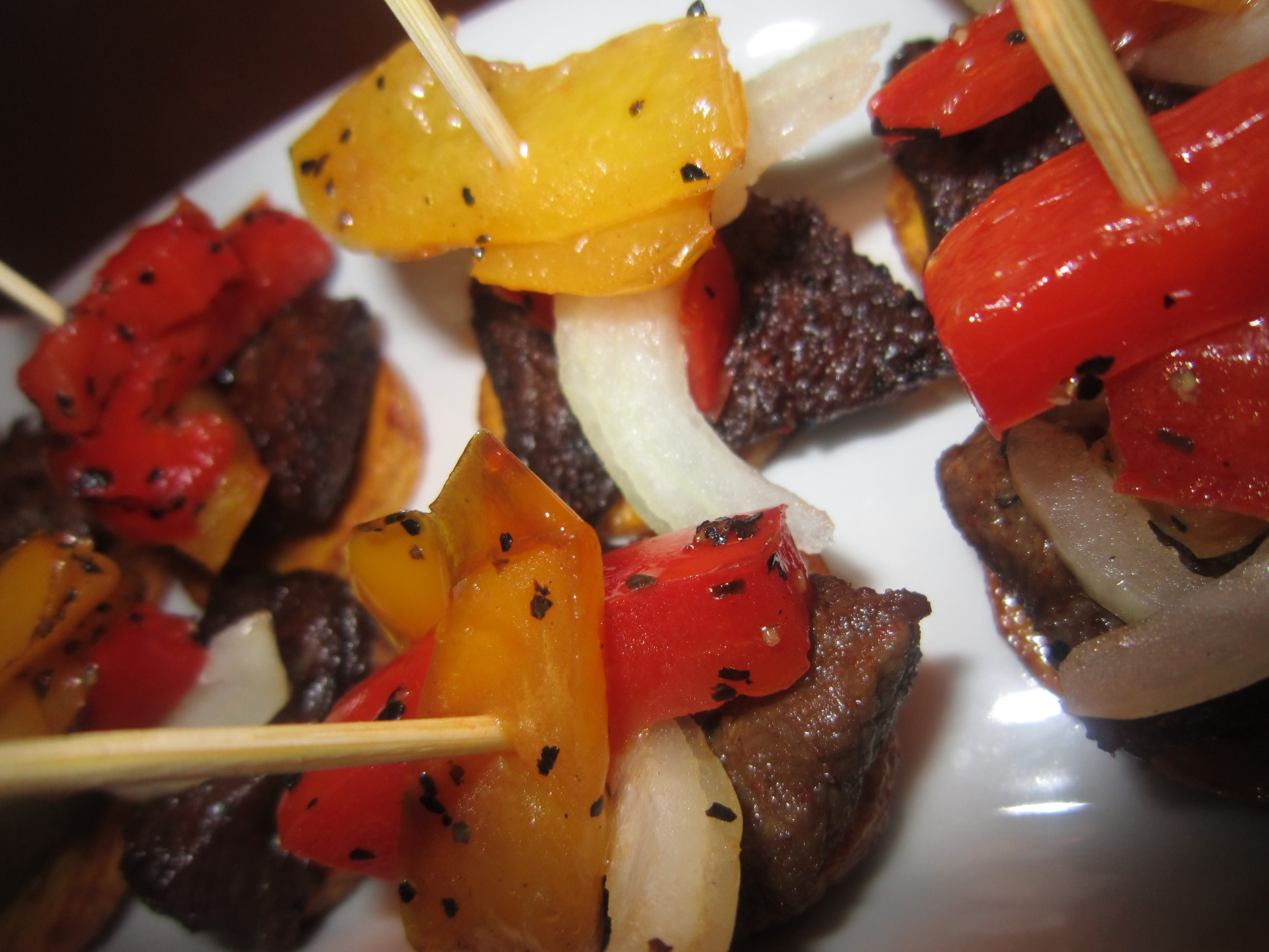 stick meat canapes -feyisope akinyosoye
