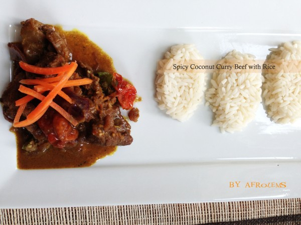 spicy coconut curry beef