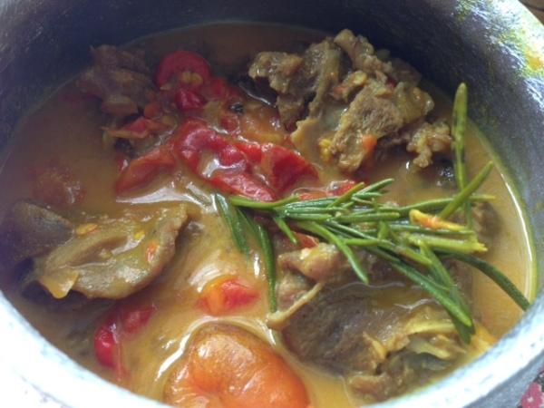spicy curried goat
