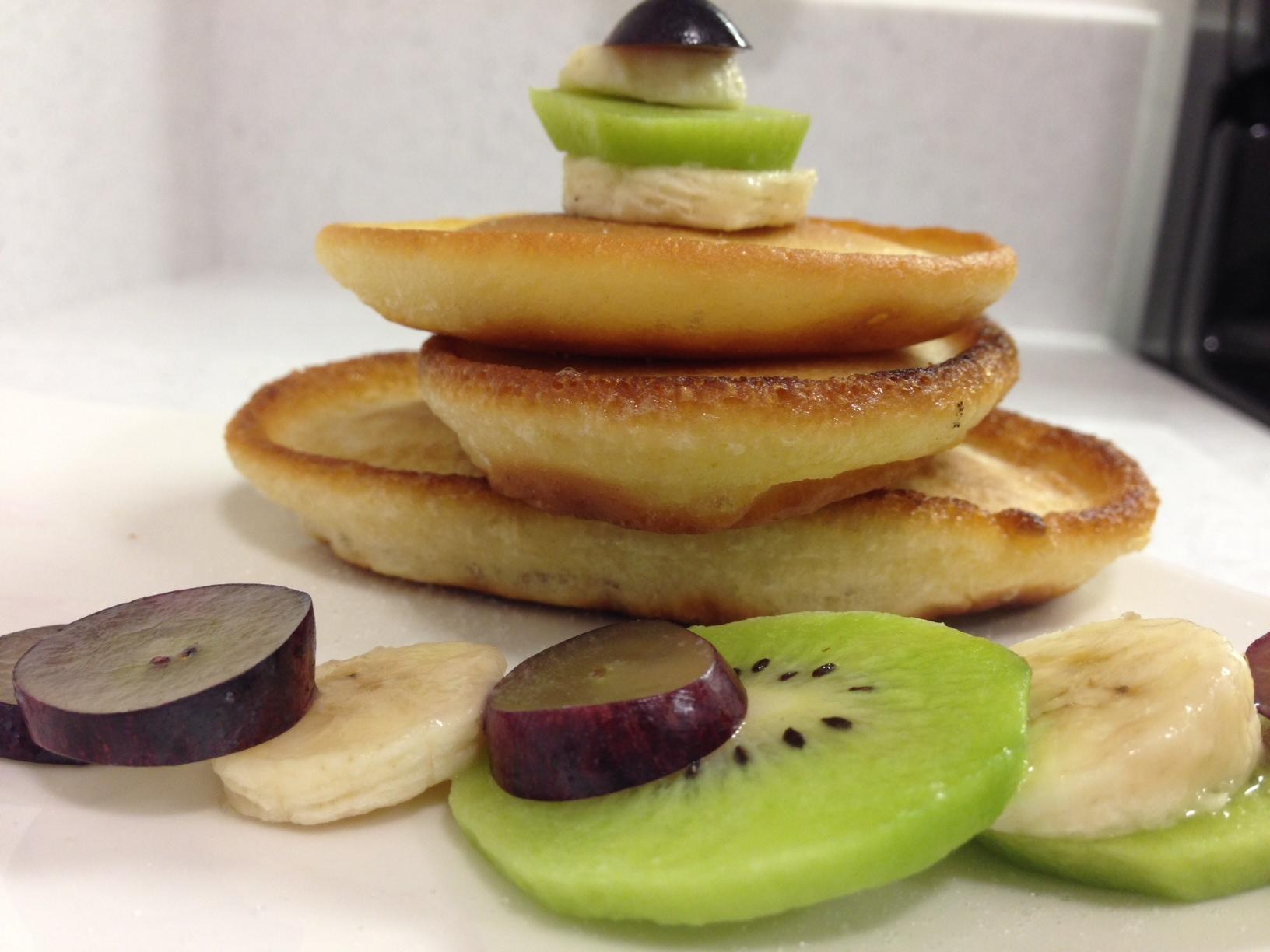 Nigerian pancake recipe afrolems nigerian food blog nigerian pancake with fruits ccuart Gallery